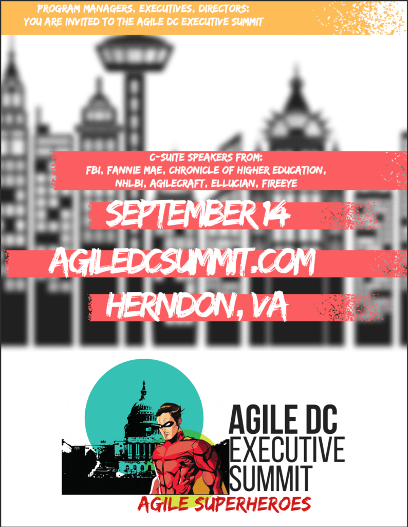 Agile DC Exec summit flyer